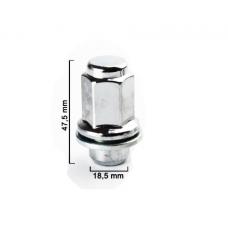 M14x1.5x47.5 HEX 21mm Flat Wheel nut