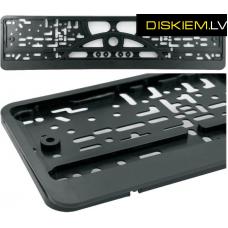 BLACK Licence plate holder