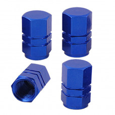 Tyre valve caps (Blue)