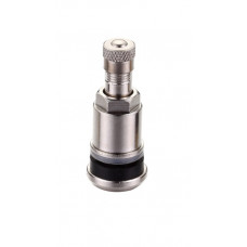 Metal clamp-in tubeless tire valve (length 42mm, wheel valve bore 11.2 - 15.2mm)