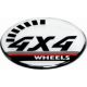 4x4 3D wheel cap stickers