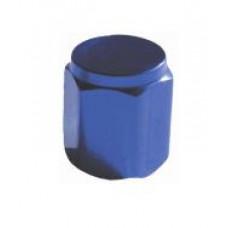 Valve cap metal (blue)