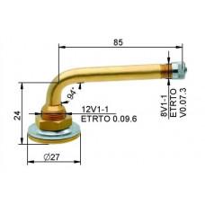 Tube valve VG12 85 mm (straight)