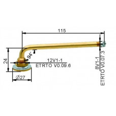 Tube valve VG12 115 mm (straight)