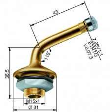 Truck tubeless valve Ø 20,5 x 44 mm