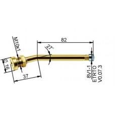 Truck tubeless valve Ø 9,7 x 119 mm (curved 27°)