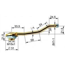 Truck tubeless valve Ø 20,5 x 140 mm