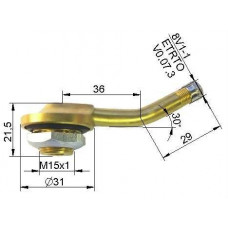 Truck tubeless valve Ø 20,5 x 65 mm
