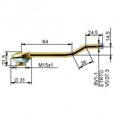 Truck tubeless valve Ø 20,5 x 115 mm
