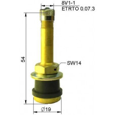 Truck tubeless valve Ø 16 x 54 mm (straight)